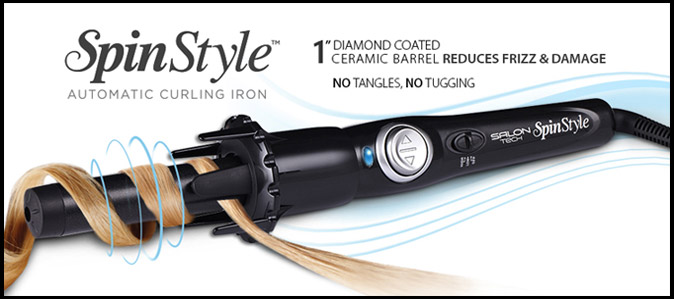 Salon Tech Spinstyle Pro Automatic Hair Curling Iron